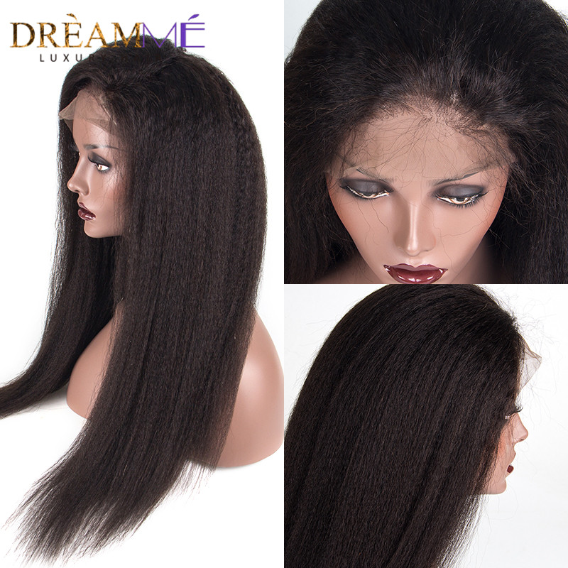 150% ketumpatan 360 Lace Frontal Rambut palsu rambut palsu rambut - Rambut manusia (untuk hitam) - Foto 2