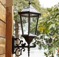 Открытый Солнечный свет настенный светильник напольный Солнечный светильник Настенный светильник водонепроницаемый сад лампы Вилла балк