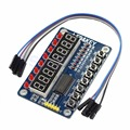 1 unid Nuevo Módulo de Pantalla LED Tubo Digital de $ Number Bits $ Number Bits TM1638 Clave Para AVR Para Arduino