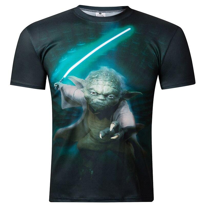2018  New Men's 3D printing Star Wars T-shirt. 3D T SHIRT
