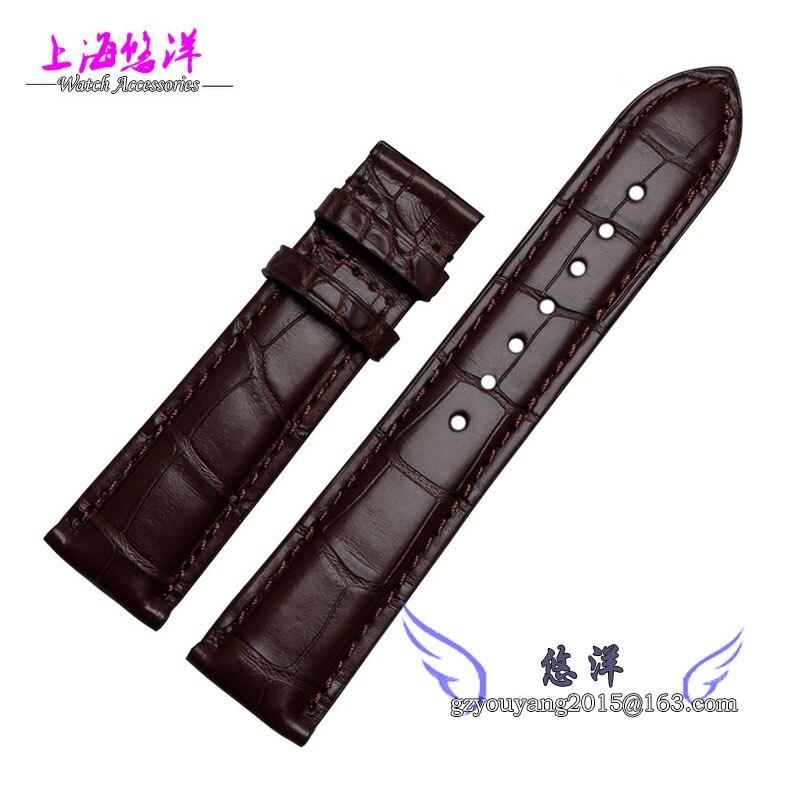 Crocodile leather hand strap male series available eccentric Senator 20 22mm Black Brown