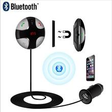 Freisprecheinrichtung Bluetooth Car Kit FM Transmitter Mp3-player w/Magnetische aufkleber TF Micro SD Card Slots USB Ladegerät für iPhone Samsung