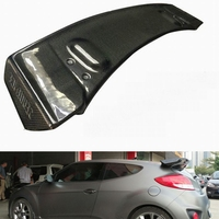 For Hyundai Veloster Carbon Fiber Sequence Style Rear Spoiler Only Fit Turbo Fibre SEQ Trunk Wing Accessories Car Styling