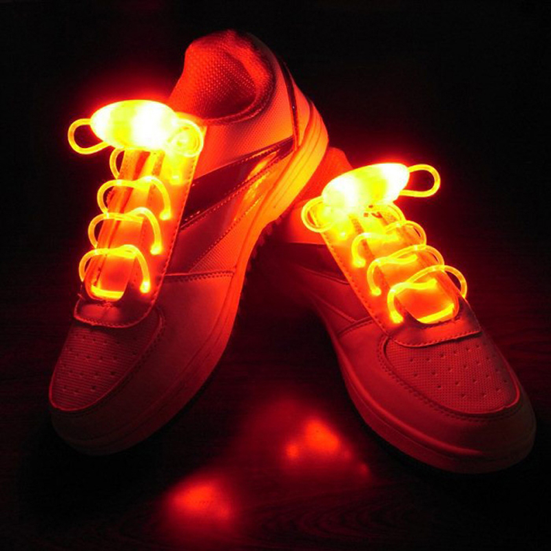 Hngchoige 1 Pair Novelty Flashing Shoelace Lights 3 Modes Luminous Led Lace Lamps For Running Skating 6.5x3x2cm Novelty Lighting