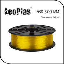 Worldwide Fast Delivery Manufacturer 3D Printer Material 1kg 2.2lb 3mm Transparent Yellow ABS Filament