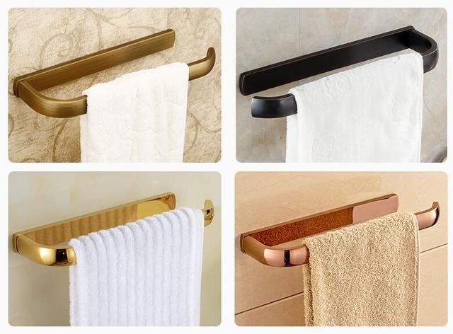 Toilet Accessoires Zwart : Handdoek ring handdoek bar toilet handdoekenrek houder massief