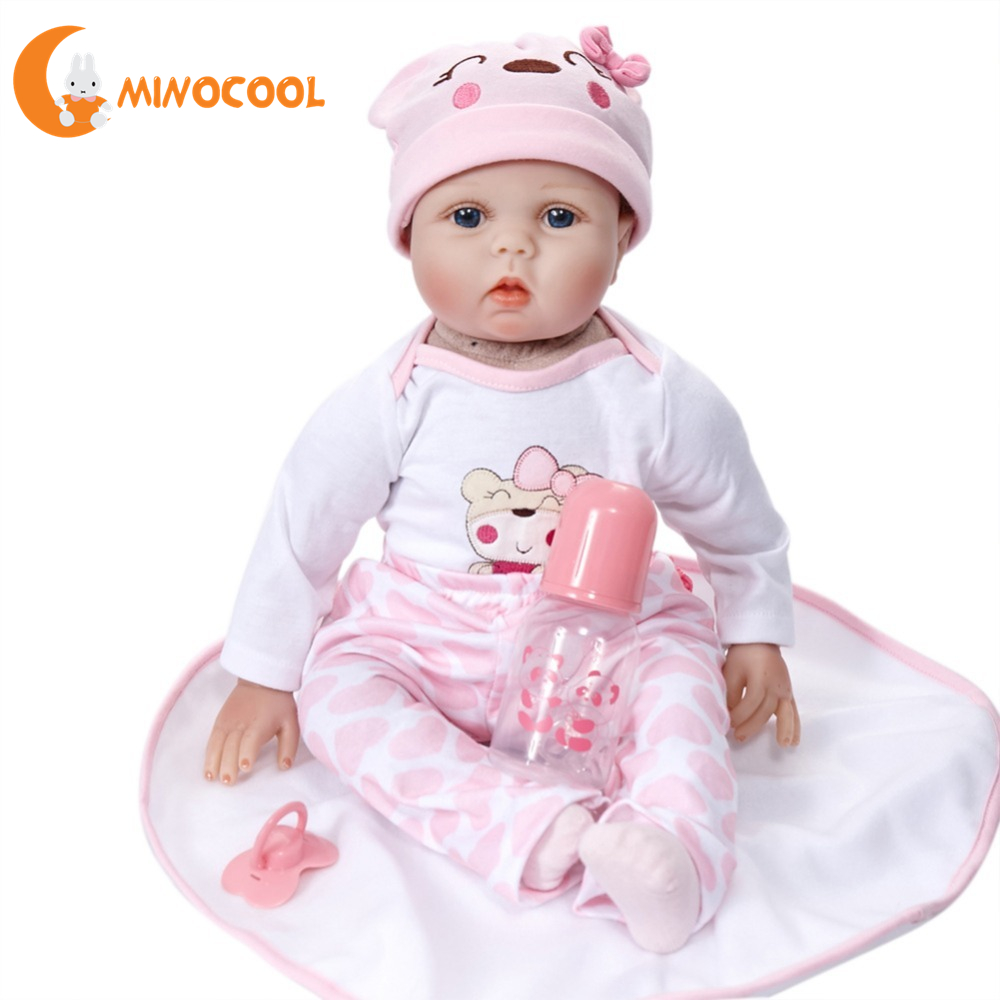Date 50 cm Reborn bébés poupées Silicone Reborn poupées réaliste réaliste nouveau-né poupée en caoutchouc souple bébé compagnon poupée
