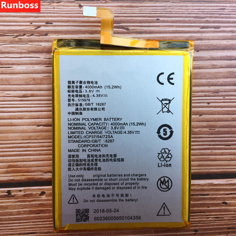 New 4000mAh Battery For ZTE Blade T620 Rechargeable Li-ion Built-in Mobile Phone Battery