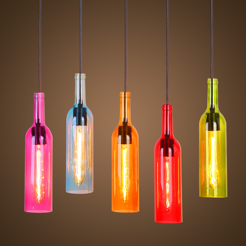 Multi color modern led pendant lights lamp lighting fixtures industrieel hanging lamp glass shade bar kitchen e27 socket AC 220v modern tiffany glass led pendant lights lamp fixtures e27 220v for decor dinning room kitchen bar restaurant home lighting