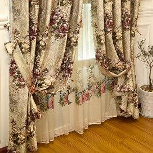 Image 3 - 유럽과 미국의 최고 럭셔리 4d 자카드 빌라 커튼 거실에 대 한 고품질 수 놓은 얇은 명주 그물과 침실에 대 한