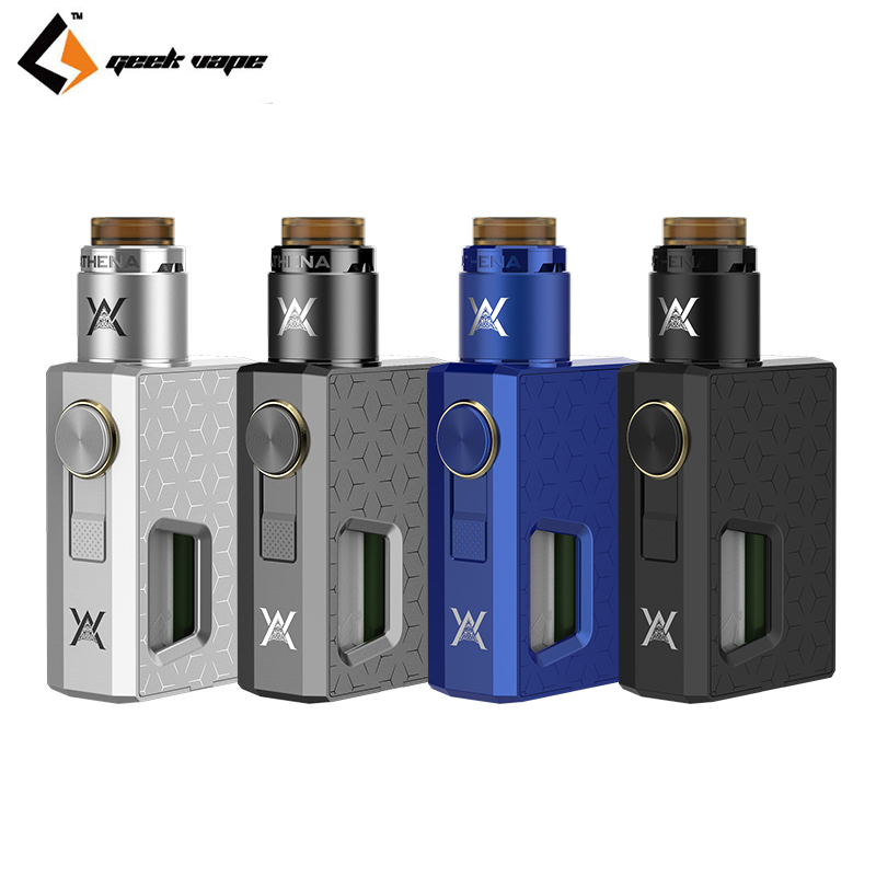 GeekVape Athena Squonk Kit  6.5ml Squonk bottle with Squonk RDA Tank With Athlena Squonk Mechanical Mod Vape spring summer new fashion sexy women pumps peep toe wedges platforms high heels sandals shoes woman buckle 35 42 loslandifen