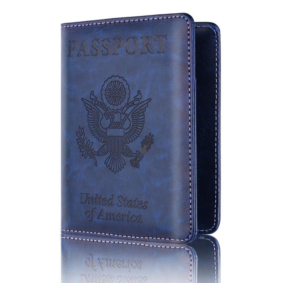 New PU Leather passport holder credit ATM card case ID International Passport