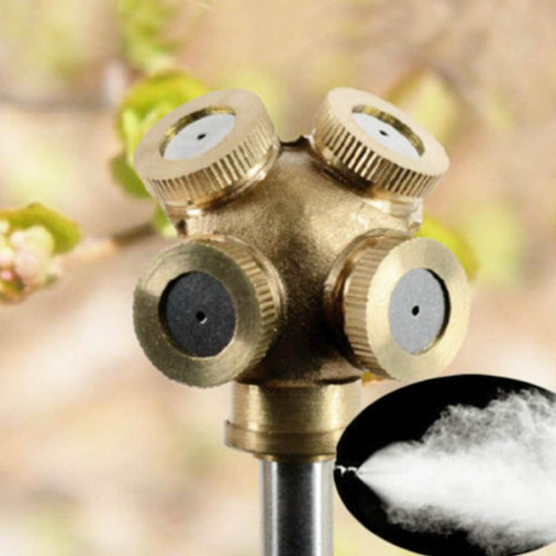 Water Misting Heads : New brass spray misting nozzle garden sprinklers fitting