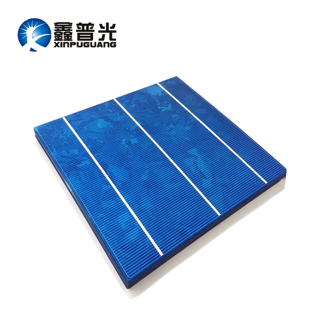 XINPUGUANG 20pcs 156*150MM CELLS PV module Photovoltaic 18% efficiency DIY solar panel 0.5v 4.2W solar cell Polysilicon silicon