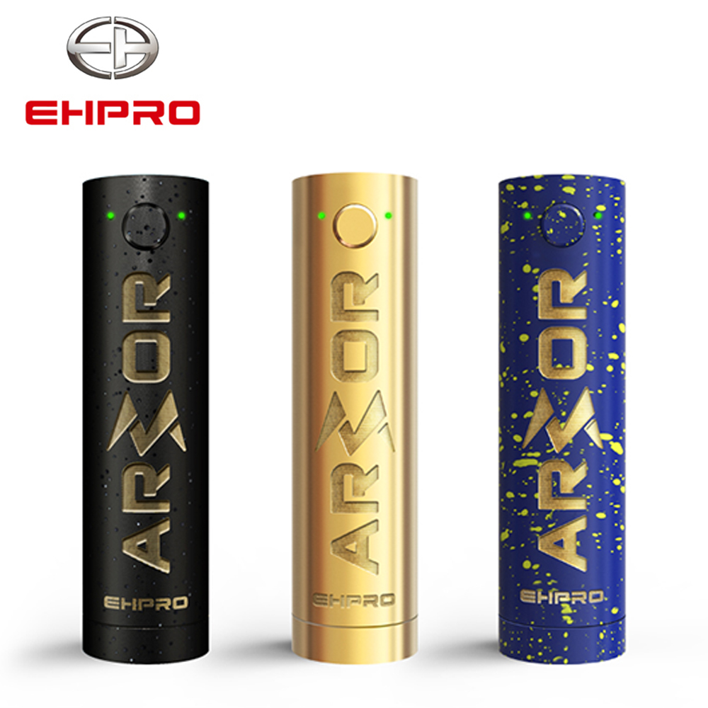Original Ehpro Armor Prime Mechanical Mod Black Color 510 Thread 20700 18650 Battery Electronic Cigarette Vape Mech Mod Brass