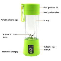 Dropship 400ml Portable Juice Blender USB Juicer Cup Multi-function Fruit Mixer Six Blade Mixing Machine Smoothies Baby Food