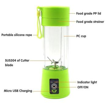 цена на Dropship 400ml Portable Juice Blender USB Juicer Cup Multi-function Fruit Mixer Six Blade Mixing Machine Smoothies Baby Food