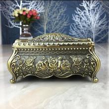 В европейском стиле ретро цинковый шкатулка для украшений, из сплава ювелирных изделий ящик для хранения Организатор ящик для хранения дома, украшение, свадебные подарки, Z063