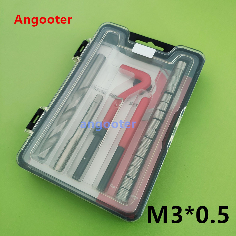 25PCS M3*0.5 Car Pro Coil Drill Tool Metric Thread Repair Insert Kit For Helicoil Car Repair Tools Coarse Crowbar