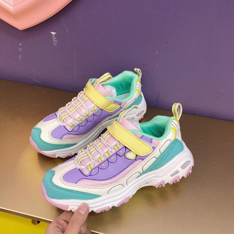 Женские кроссовки LMCAVASUN, розовые кроссовки на платформе, повседневная обувь
