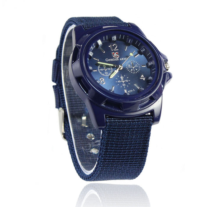 Relogio masculino Sport Men Officer Fabric Band Watch Fashion Gemius Army Racing Force Military  wholesale  June16 недорого