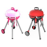 Simulation Toy Set Lighting Sound BBQ Variety Barbecue Cart Plays House Toys For Children Birthday Gifts Supplies