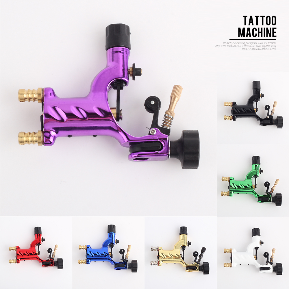 YILONG Dragonfly Rotary Tatoveringsmaskin Shader & Liner 7 Farger Assorterte Tatoo Motor Gun Gun Kit For Kunstnere