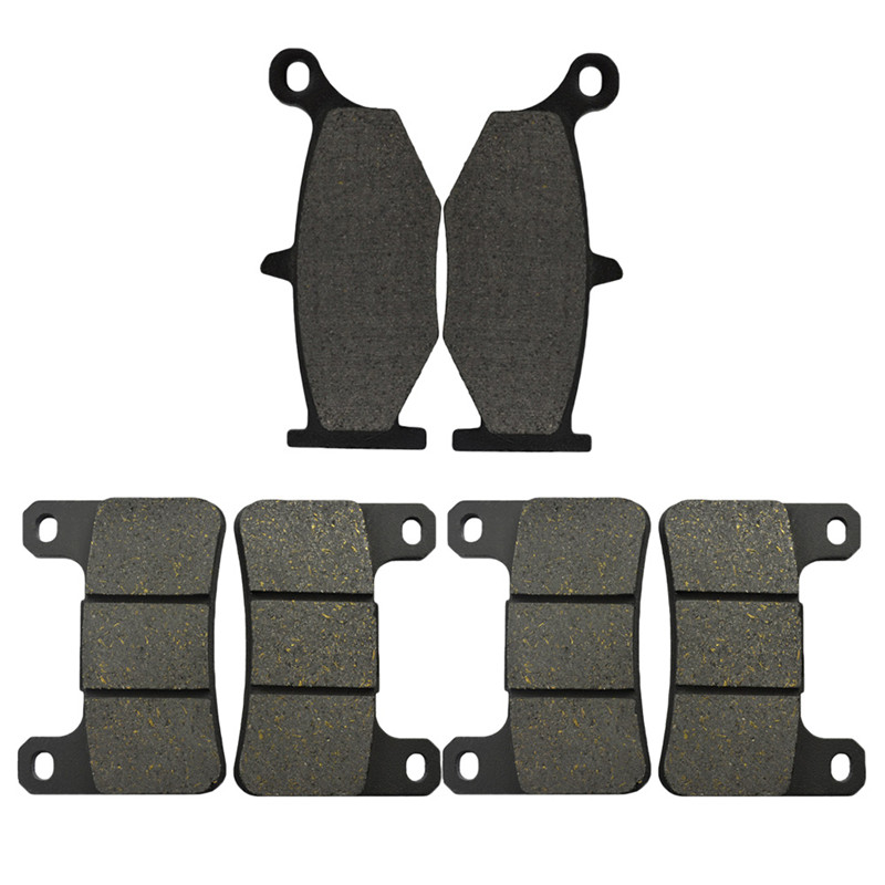 Motorcycle Front and Rear Brake Pads For Suzuki GSXR 600 & GSXR 750 (2006-2010) GSXR 1000 (2007-2008) GSXR 1300 Brake Disc Pad motorcycle front and rear brake pads for yamaha xvs 1300 xvs1300 a midnight star 2007 2010 black brake disc pad