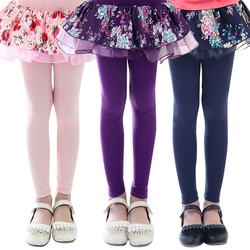 цены Girl's legging Children's clothing female child legging autumn child skirt capris faux two piece culottes baby girl clothes