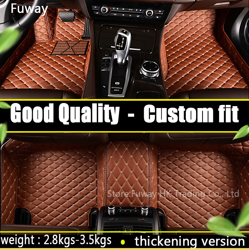 Custom Car floor mats Case for Toyota Camry Corolla RAV4 Mark X Crown Verso Cruiser car-styling leather Anti-slip carpet liners zhaoyanhua car floor mats for mercedes benz w169 w176 a class 150 160 170 180 200 220 250 260 car styling carpet liners 2004