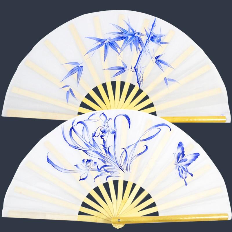Painted Bamboo Tai Ji Fan 2