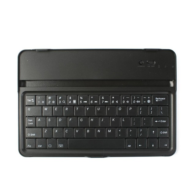 K82 External Portable Bluetooth keyboard Mini Black Stand Aluminum Cover  Bluetooth Keyboard for iPad Mini with screen protector