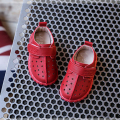 Spring baby shoes boys girls pierced ventilation holes kids casual shoes red black soft toddler age of 1-3 FW-025