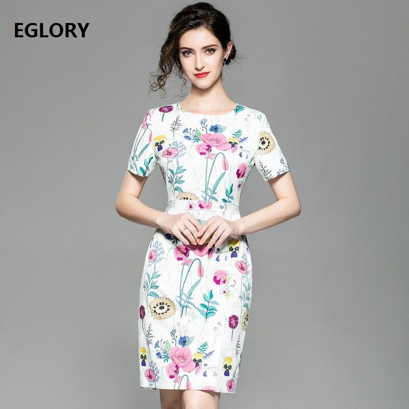 655be3f572 Femmes Robes Courtes Fourreau Pour Printemps Date Robe Imprimé Genou  Cocktail D'été Floral Longueur 2019 Manches Mode ...