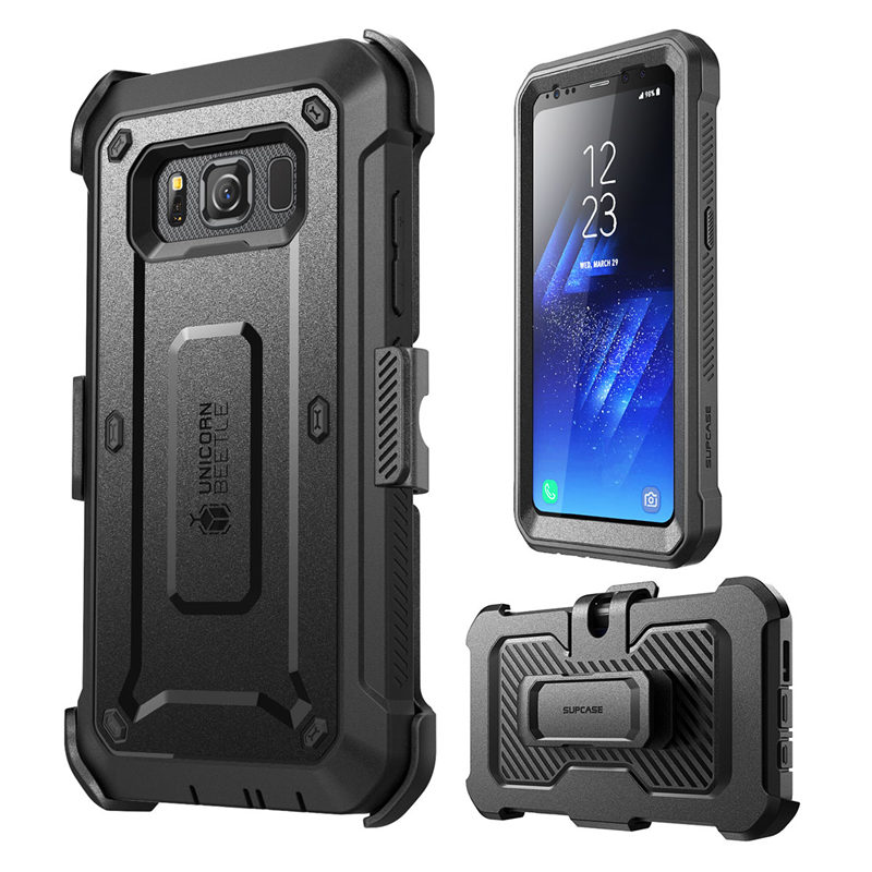 super popular ca740 af513 US $17.99  For Samsung Galaxy S8 Active Case SUPCASE Unicorn Beetle UB Pro  Full Body Rugged Holster Cover WITH Built in Screen Protector-in Fitted ...