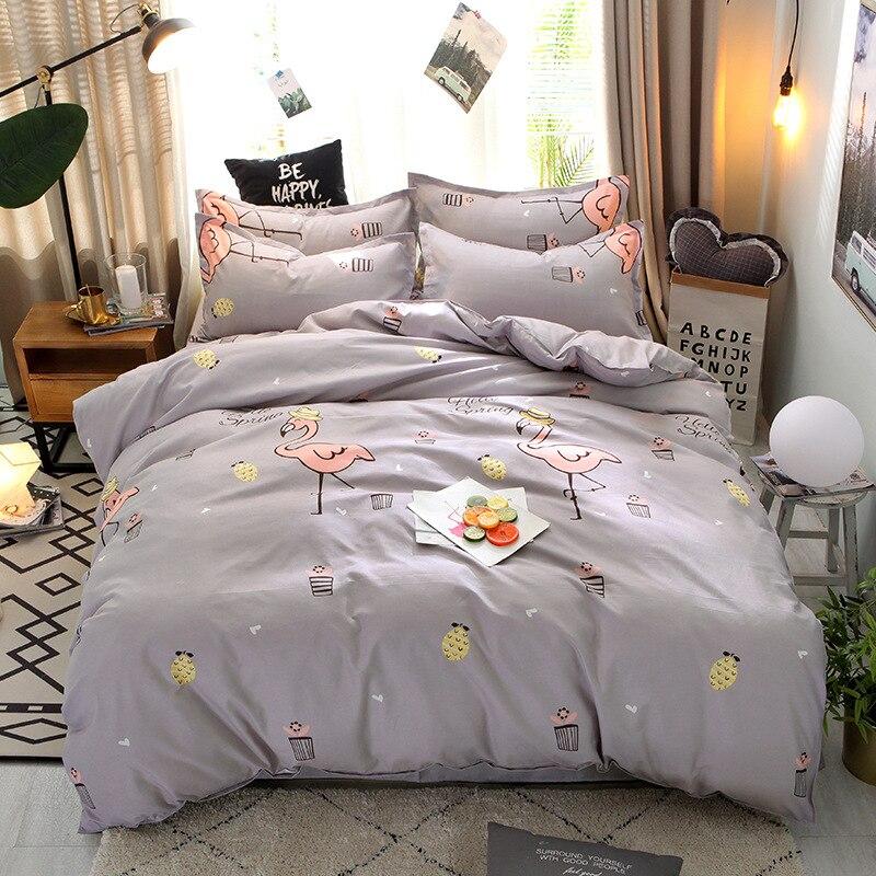 Smelov 4 шт. мягкий хлопковый комплект постельного белья включая пуховое одеяло простыня наволочка одеяло постельный комплект s постельное белье 200