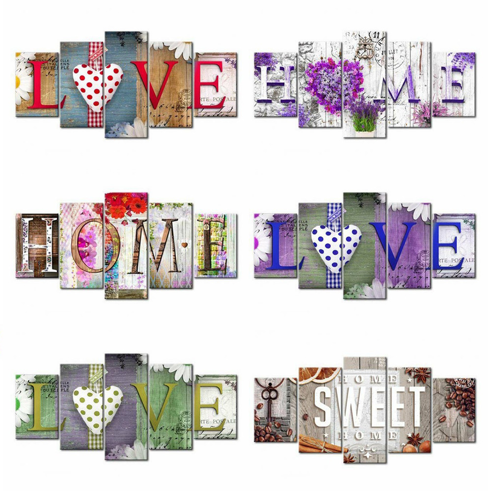 HUACAN Diamond Painting Love Diamond Embroidery Home Multi-picture Combination Cartoon Full Square Picture Of Rhinestones Mosaic
