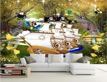 3d Room Wallpaper Landscape Custom Mural Jungle River Pirate Ship  Decoration Painting 3d Wall Murals Wallpaper For Walls 3 D Part 91