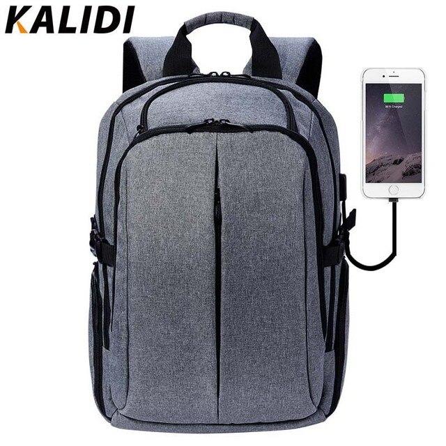 Kalidi 17 дюймов ноутбук рюкзак для подростков брендовая Для мужчин рюкзак Школьные ранцы 17.3nch Водонепроницаемый Винтаж рюкзак перемещения  рюкзак мужской  рюкзак школьный
