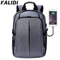 KALIDI 17 Inch Laptop Backpack For Teenage Brand Men Backpack School Bag Waterproof Vintage Backpack Travel