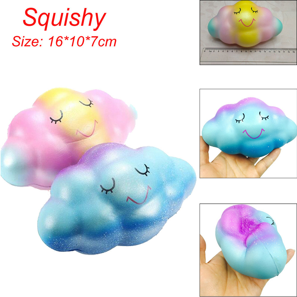 Huge Cloud Cream Scented Squishy Slime toys Slow Rising Squeeze Toys Phone Charm Stress Reliever Antistress