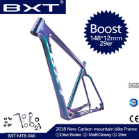 2019 NEW 29er Full Carbon BOOST frame 148*12mm MTB carbon bicycle frame Mountain Bike Frame used for racing bike cycling Parts
