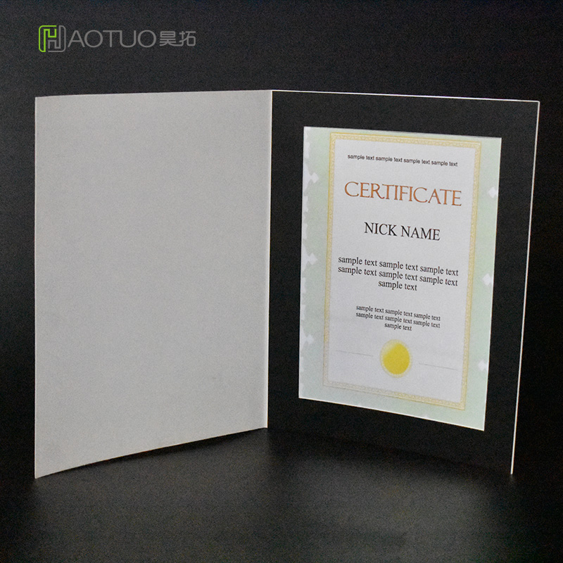 HAOTUO Photo Frame White Photo Folders for 8x10 Picture Large Acid Free Cardboard Photo Frame For Graduation 10 pcs