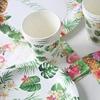 Aloha-suministros de vajilla desechable hawaiana con motivo de flamencos, para decoración de fiestas, vasos, servilletas, fiesta Tropical, cumpleaños y verano
