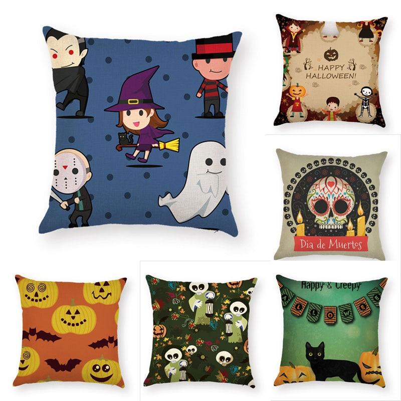 Halloween Pillow Case Children and little demons Throw Pillows cover Sofa Car Cushion Cover for Home Decorative Pillowcase
