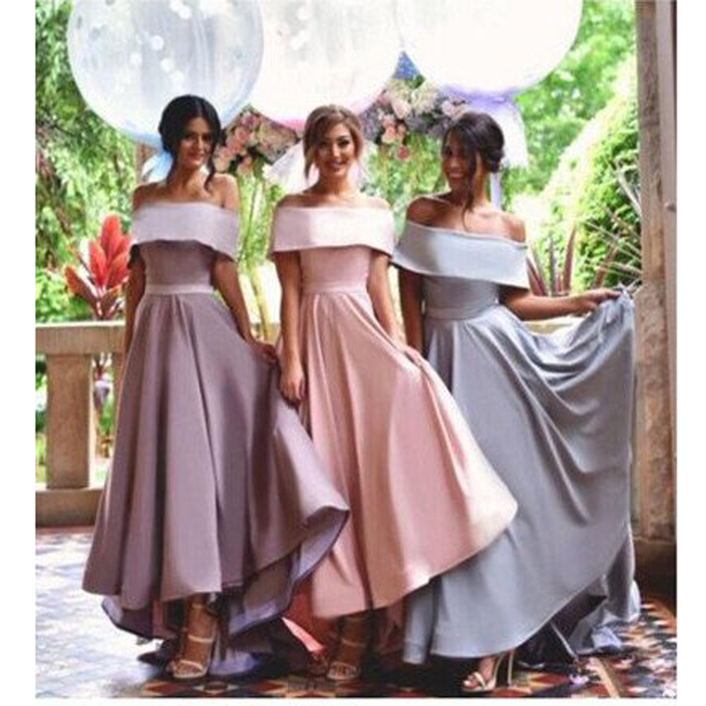 Compare prices on long short bridesmaid dresses online shopping 2017 off shoulder bridesmaid dresses long short sleeves draped satin long party dress women formal bridemaids ombrellifo Image collections