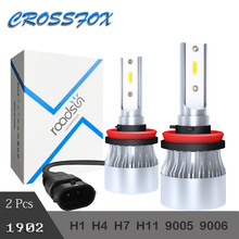 купить New 1902 H7 LED H4 Hi Low H11 H8 LED Headlight Bulb H1 H9 9005 9006 HB2 HB3 12V  60W 6000K 8000LM Led Lights Auto Headlamp Kit по цене 997.23 рублей