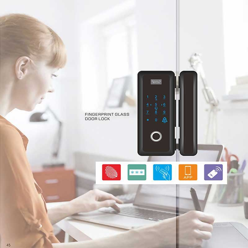 Image 5 - Smart Fingerprint Glass Door Lock Security Biometric Keyless Electric Lock Easy Install Code RFID Card Remote Mobile APP Unlock-in Electric Lock from Security & Protection