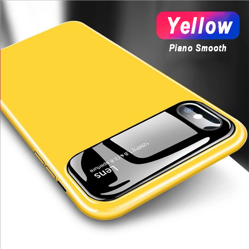 100% authentic 38205 b2a12 US $2.45 10% OFF|Luxury Bling Smooth Mirror Hard Phone Cases For iPhone X 7  8 6s Plus Camera Protector 360 Cover For iPhoneX 10 Lens Piano coque-in ...
