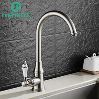 Nieneng Brass Brushed Nickel 360 Swivel Kitchen Faucets Accessories With Water Filter For Hot Cold Rotation
